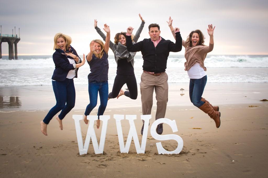 walk with sally team jump on the beach