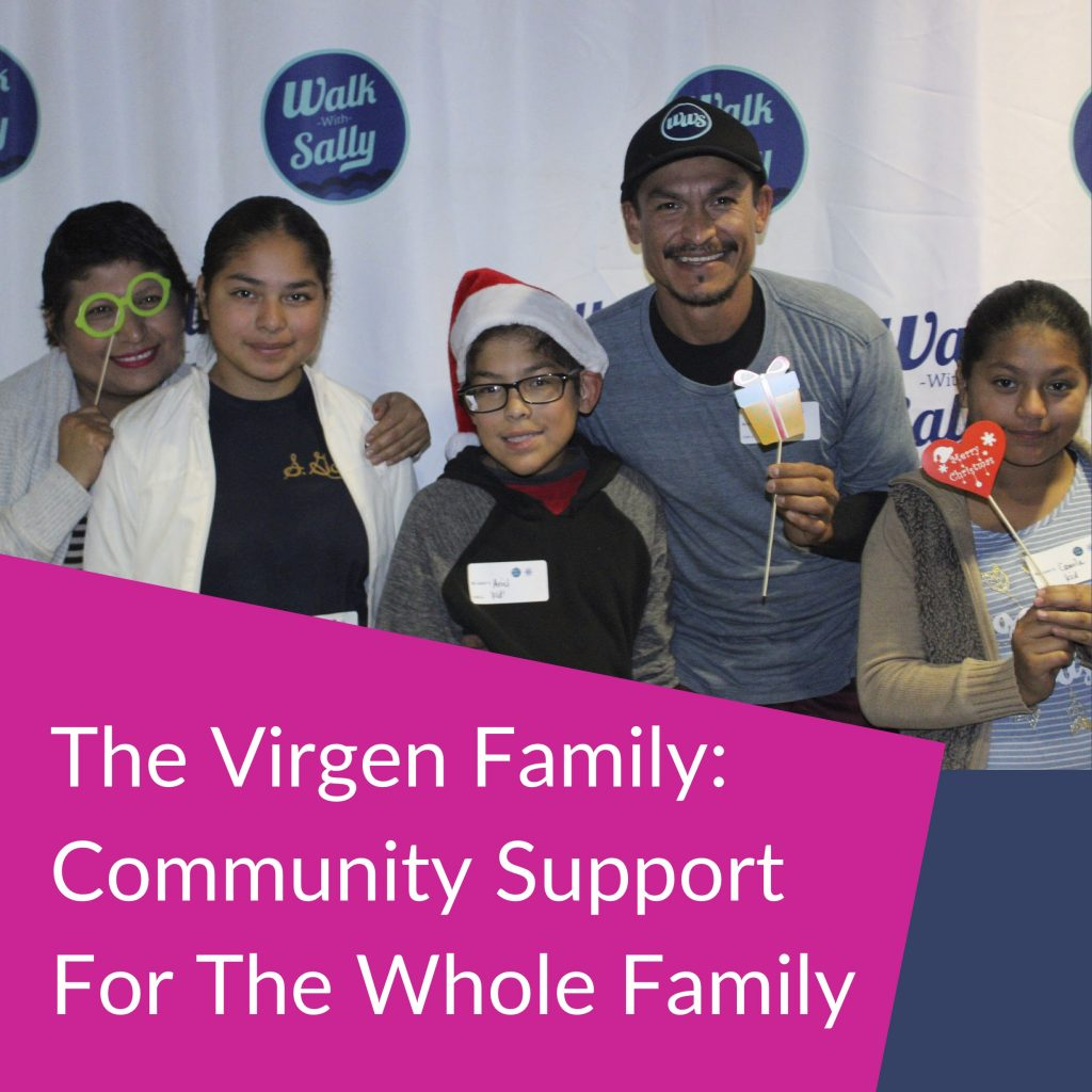 The Virgen Family impacted by Breast Cancer at a Walk With Sally event