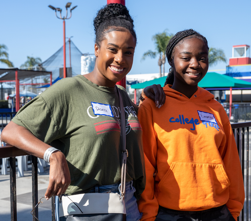 Walk WIth Sally mentor and mentee attending a Friendship Activity program day event in Torrance California